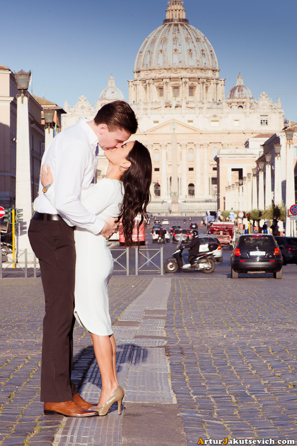 Pre wedding photo shooting in Rome in April