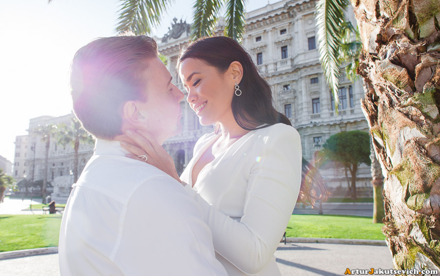 Lovely pre-wedding photos from Rome in April