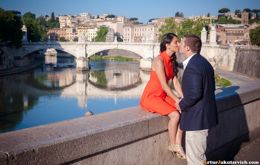 Romantic morning in Rome