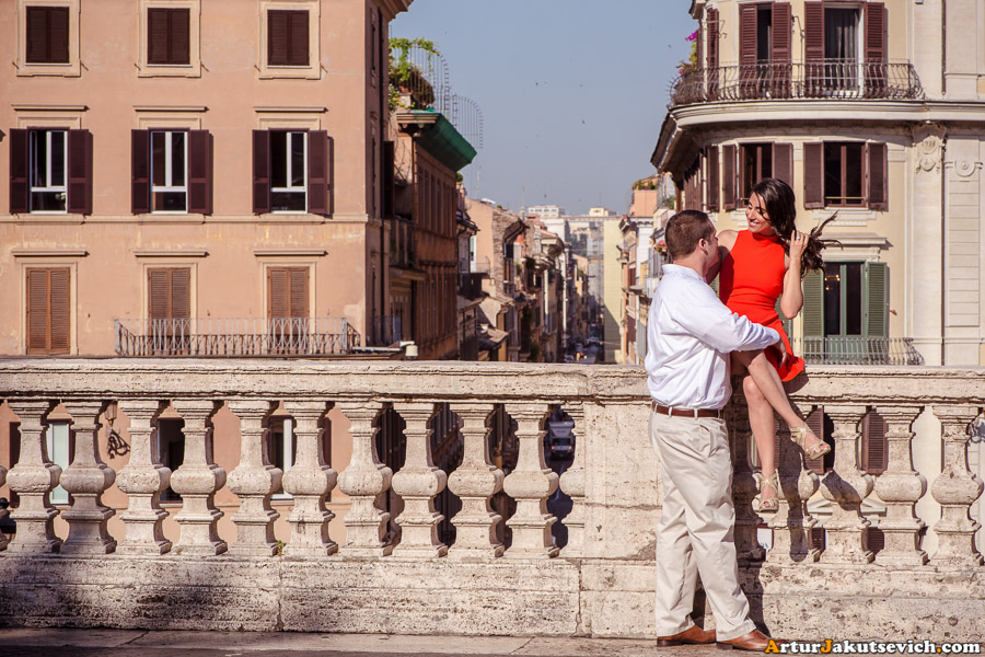 Honeymoon in Rome Spanish steps photo