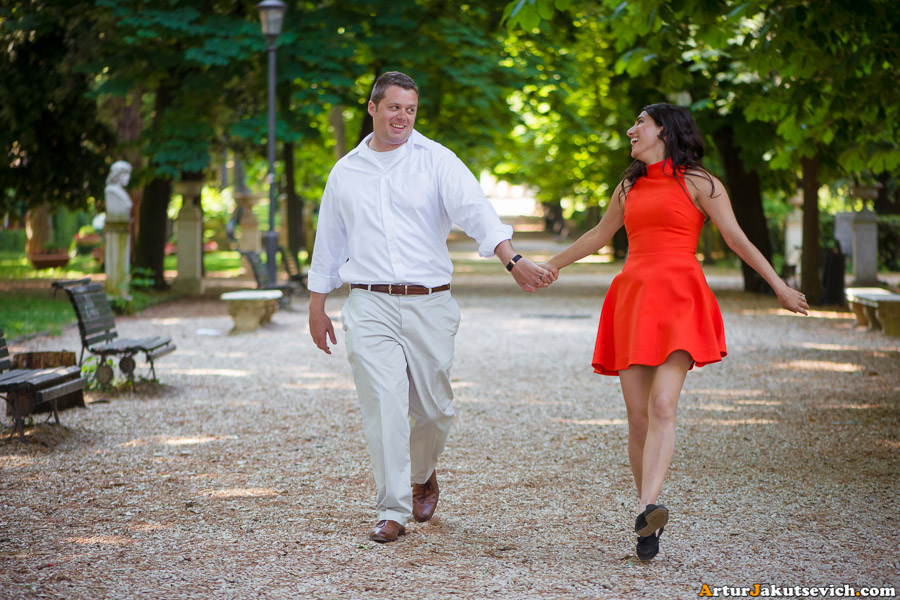 Honeymoon in Rome Villa Borghese photo