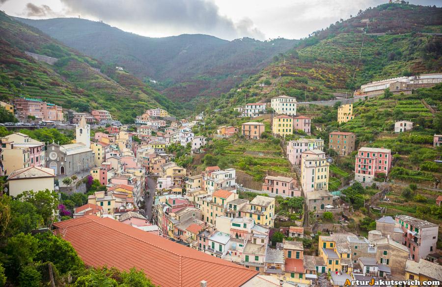 Panoramic view in Riomaggiore