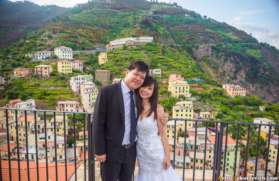 Honeymoon photo shooting in Riomaggiore