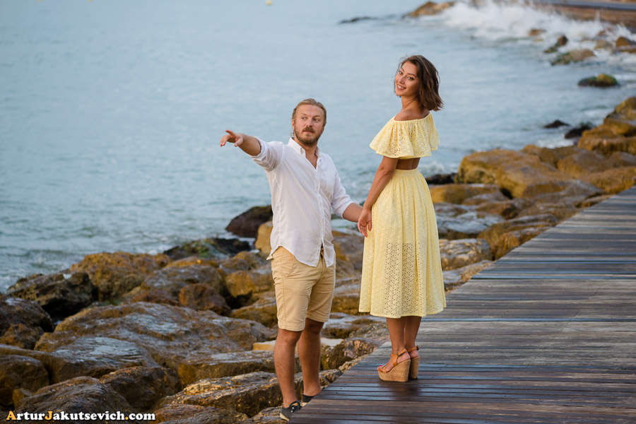Romantic photo shooting in Spain