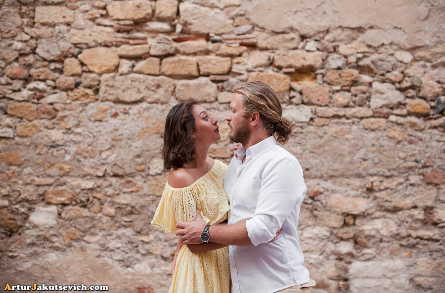 Engagement photo shooting in Spain