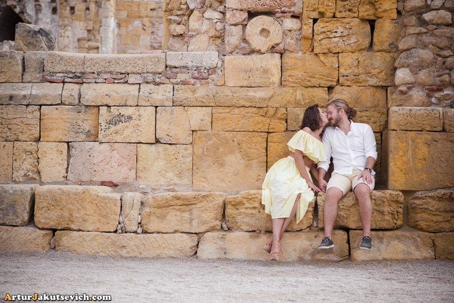 Engagement holiday photo shooting in Salou and Tarragona