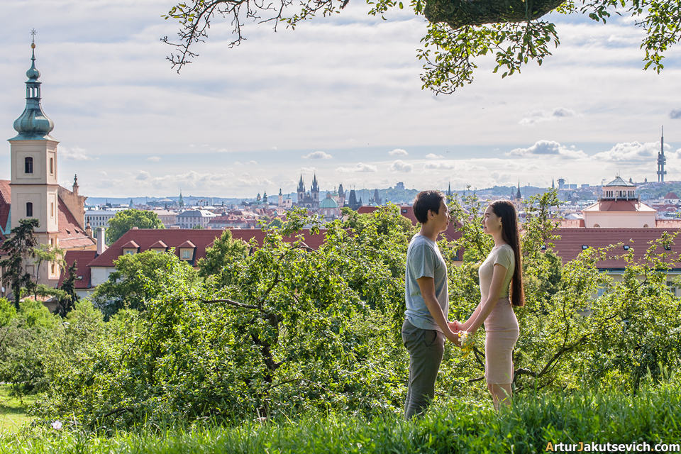 Engagement photography in Prague