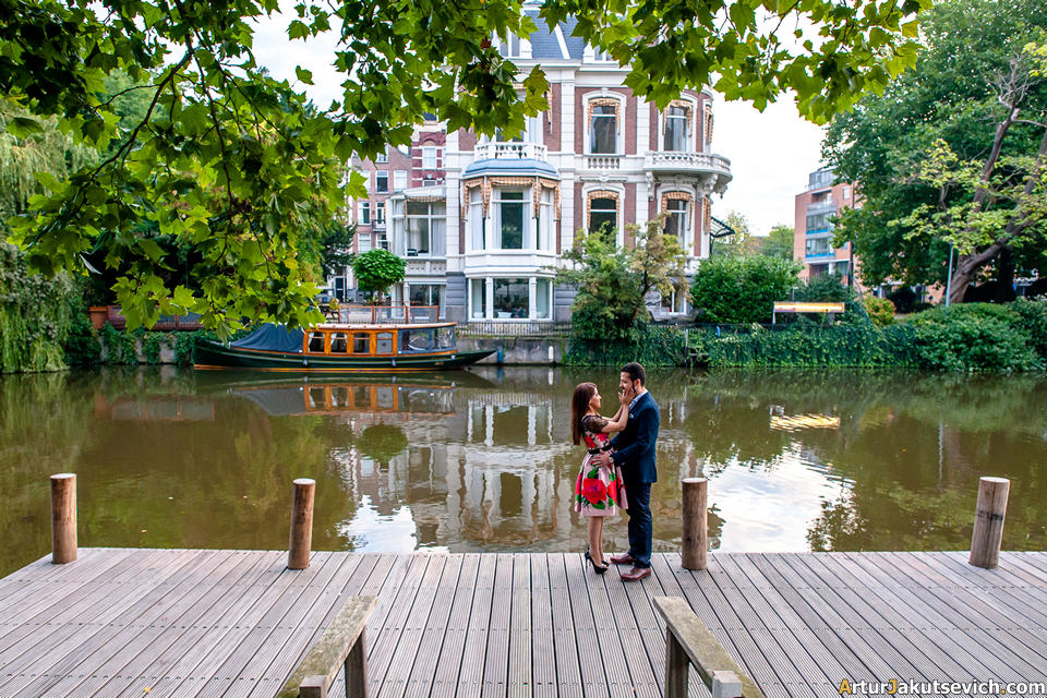 Engagement photo shooting in Amsterdam