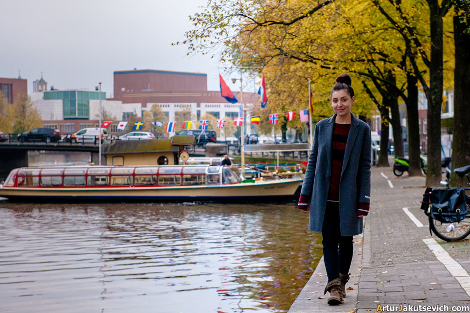 Autumn photo shooting in Amsterdam