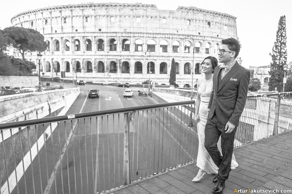 Engagement photo shooting in Rome