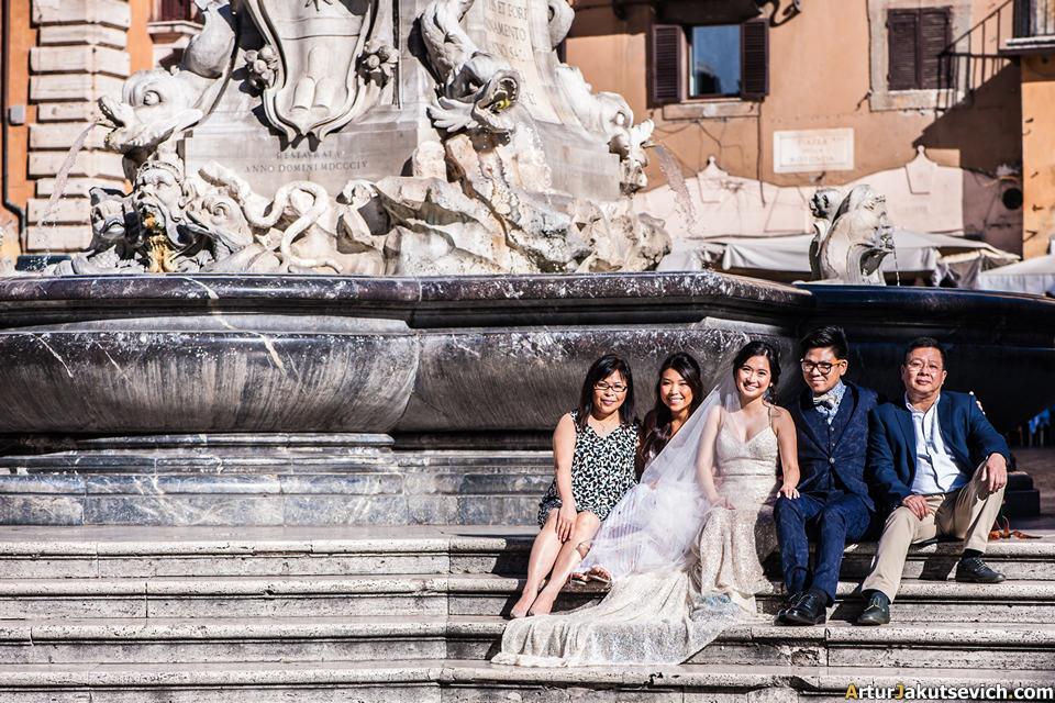 Rome family photo