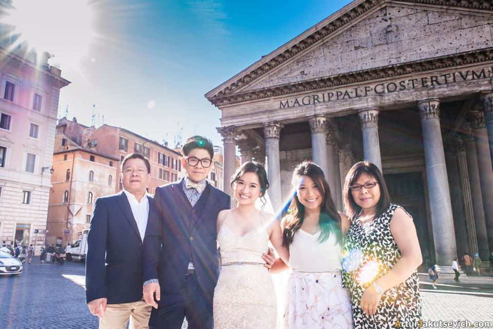 Family photo shooting in Rome